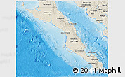 Shaded Relief 3D Map of Baja California Sur