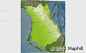 Physical 3D Map of Comondu, darken