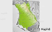 Physical 3D Map of Comondu, desaturated