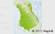Physical 3D Map of Comondu, lighten