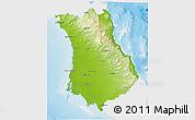Physical 3D Map of Comondu, single color outside