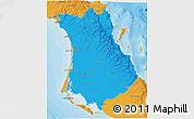Political 3D Map of Comondu