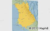 Savanna Style 3D Map of Comondu