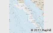 Classic Style Map of Baja California Sur