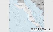 Gray Map of Baja California Sur