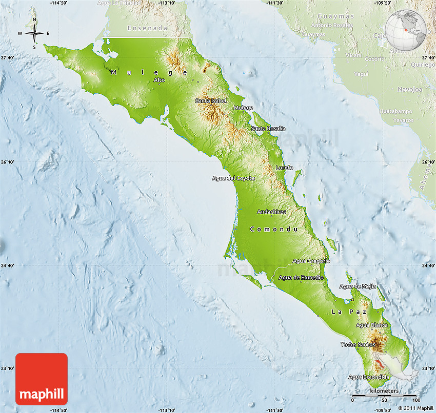 Physical Map of Baja California Sur, lighten on rio grande map, states of mexico, arizona map, gulf of california map, balsas river map, central america map, sierra madre map, cabo san lucas map, san jose del cabo map, united states map, colorado river map, south america map, quintana roo, ciudad juarez map, alabama map, puerto nuevo map, sonoran map, cabo san lucas, acapulco map, mexico map, cabo corridor map, baja california sur, north america map, usa map, baja california peninsula, la paz,