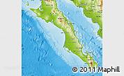 Physical Map of Baja California Sur