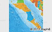 Political Map of Baja California Sur
