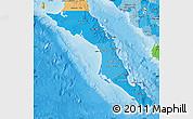Political Shades Map of Baja California Sur