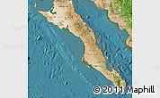 Satellite Map of Baja California Sur