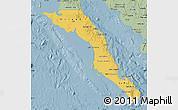 Savanna Style Map of Baja California Sur
