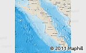 Shaded Relief Map of Baja California Sur