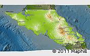 Physical 3D Map of Mulege, darken