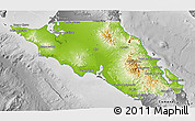 Physical 3D Map of Mulege, desaturated