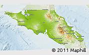 Physical 3D Map of Mulege, lighten