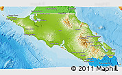 Physical 3D Map of Mulege, political outside