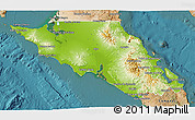 Physical 3D Map of Mulege, satellite outside