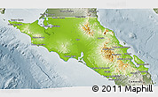 Physical 3D Map of Mulege, semi-desaturated