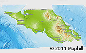 Physical 3D Map of Mulege, single color outside