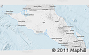 Silver Style 3D Map of Mulege
