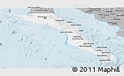 Gray Panoramic Map of Baja California Sur