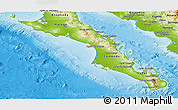Physical Panoramic Map of Baja California Sur