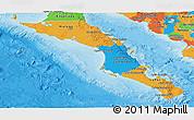 Political Panoramic Map of Baja California Sur