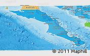 Political Shades Panoramic Map of Baja California Sur