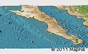 Satellite Panoramic Map of Baja California Sur