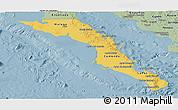 Savanna Style Panoramic Map of Baja California Sur