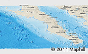 Shaded Relief Panoramic Map of Baja California Sur