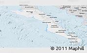 Silver Style Panoramic Map of Baja California Sur