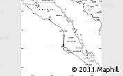 Blank Simple Map of Baja California Sur