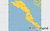 Savanna Style Simple Map of Baja California Sur