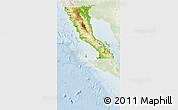 Physical 3D Map of Baja California, lighten