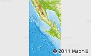 Physical 3D Map of Baja California