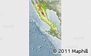 Physical 3D Map of Baja California, semi-desaturated