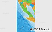 Political 3D Map of Baja California