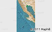 Satellite 3D Map of Baja California