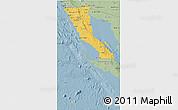 Savanna Style 3D Map of Baja California