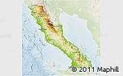 Physical 3D Map of Ensenada, lighten