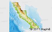 Physical 3D Map of Ensenada, single color outside