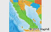 Political 3D Map of Ensenada