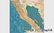 Satellite 3D Map of Ensenada