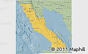 Savanna Style 3D Map of Ensenada