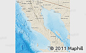 Shaded Relief 3D Map of Ensenada