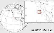 Blank Location Map of Isla Cedros