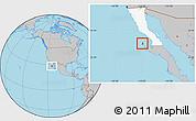 Gray Location Map of Isla Cedros, highlighted parent region
