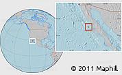 Gray Location Map of Isla Cedros, hill shading