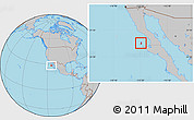 Gray Location Map of Isla Cedros